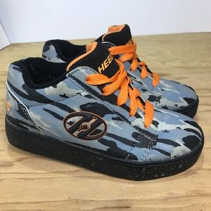 Heelys Boys Shoes Straight Up Orange Grey Sz 13c